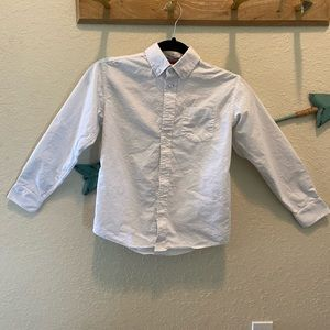 Boy's IZOD White Button Down Dress Shirt